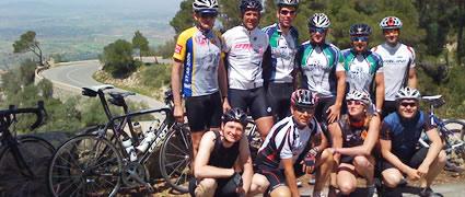 Die schnellste Gruppe auf dem Berg von San Salvador