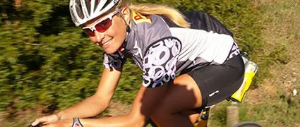 Mit dabei: Triathlonprofi Heidi Jesberger