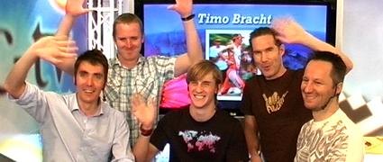 Neuneinhalb Stunden live auf Sendung: Das Team von triathlon-szene.de