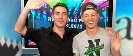 Arne und Marcel aus dem TV-Team