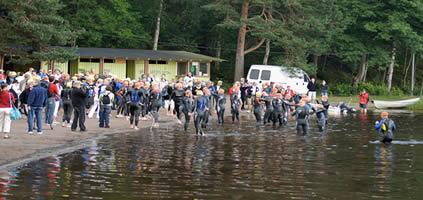 Schwimmstart in Finnland: Platz ist ausreichend vorhanden