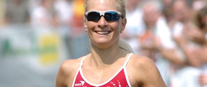 Heidi Jesberger beim Ironman Wisconsin: Das Ziel ist ein Slot für den Ironman Hawaii 2008