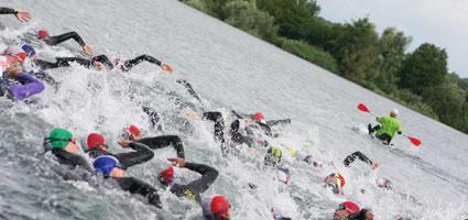 Die Mitteldistanz in Malterdingen: Schwimmen