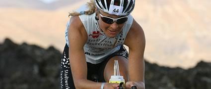 Heidi Jesberger beim Ironman Lanzarote 2008