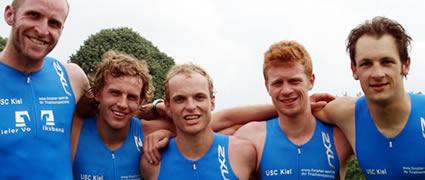 In der ersten Triathlon-Bundesliega: Die Mannschaft des USC Kiel