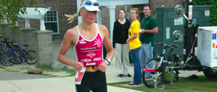 Heidi Jesberger: Pech auf dem Rad, sehr schneller Marathon.