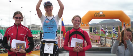 Heidi Jesberger gewinnt den Internationalen Lanzarote Duathlon 2009.