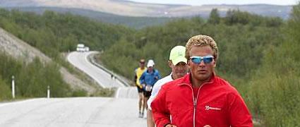 Marcel Heinig beim TransEuropa-Run über 4500 km