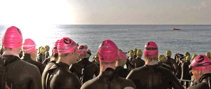 Morgensonne beim Start: Challenge Barcelona