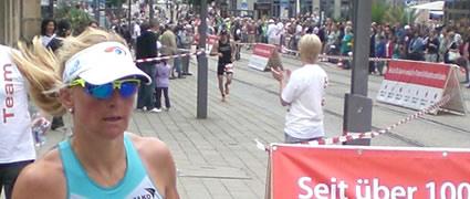 Vor toller Kulisse: Heidi Jesberger holt den dritten Platz