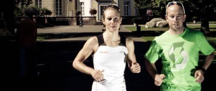 Olympia im Visier: Svenja Bazlen mit ihrem Trainer Lubos Bilek