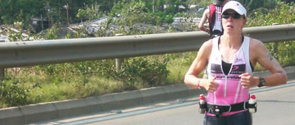 Amy Marsh legte den Grundstein ihres Sieges bereits auf dem Rad.