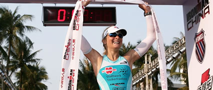 Heidi Jesberger holt den dritten Platz beim Ironman China