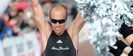 Andi Böcherer Zweiter in Buschhütten. Bild: Team Abu Dhabi Triathlon