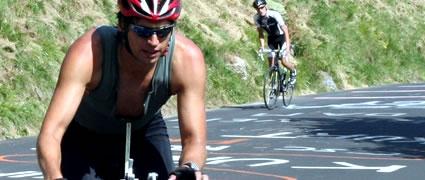 Der Autor auf der 115 km langen Radstrecke