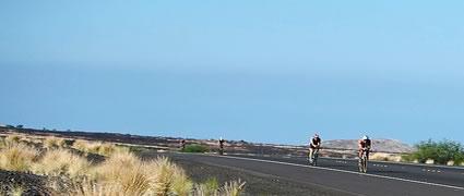 Ironman Hawaii Radstrecke: Bis auf zwei Hügel ist der Kurs flach