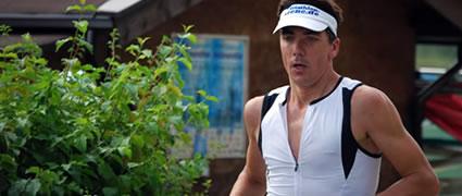 Der leidgeprüfte Autor auf der Laufstrecke. Bild: Jörg Peterson