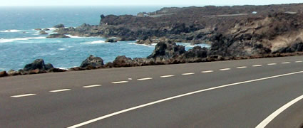 Radstrecke: Die Lavafelder bei El Golfo